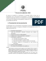 Proceso de Admisión 2018 Doctorado