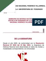 SEMINARIO DE DEFENSA NACIONAL