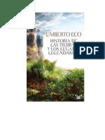 Eco Umberto - Historia De Las Tierras Y Los Lugares Legendarios.doc