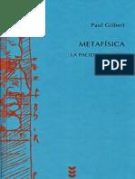 GILBERT, Paul. Metafisica. La paciencia del ser.pdf