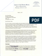 Cook Correspondence With Zinke FOIA