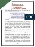 Studi Kritis Barzanj Maktabah Abu Salma Al Atsaryi