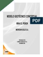 Modelo Geotecnico y Dimensionamiento El Peñon