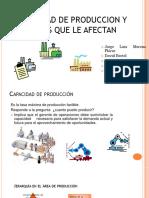 Capacidad de producción y factores que la afectan