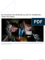 Ex-Prostitutes Say South Korea and U.S. Enabled Sex Trade Near Bases