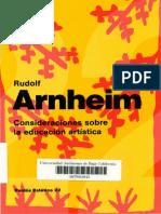 Arnheim, Rudolf - Consideraciones Sobre La Educación Artística.pdf