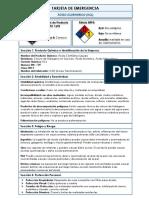 Tabla de Seguridad Del Acido Clorhidrico