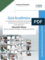 Guía Académica. Director de Educación Básica