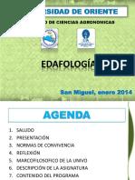 Clase Edafologia