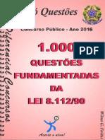 #1.000 Questões Fundamentais Da Lei 8.112-90 (2016) - Diferencial Concursos