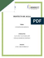 Conceptos Estadisticos Proyecto de Aula