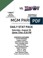 8.26.17 vs. JAX Stat Pack