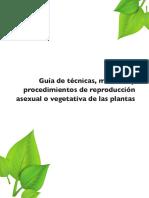 Guía de Técnicas Métodos y Procedimientos de Reproducción Asexual o Vegetativa de Las Plantas