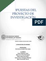 Propuestas - Ejemplos de Trabajos Cientificos