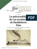 La Universalidad de Las Aventuras de Huckleberry Finn – Langosta Literaria