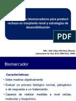 Utilidad de Los Biomarcadores Para Predecir Rechazo en Trasplante Renal y Estrategias de Desensibilizacion
