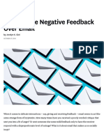 Negative Feedback Over Mail