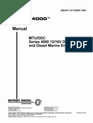 MTU 4000 12v 16v+Service+Manual pdf   Fuel Injection