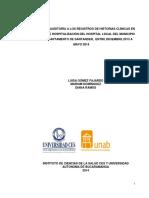 Auditoria Registros Historia