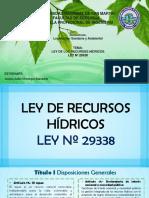 Ley de Recursos Hídricos
