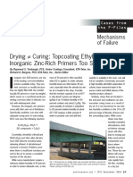 JPCL September 2014 - Topcoating Ethyl Silicate Inorganic Zinc-Rich Primers Too Soon