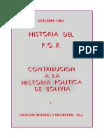 Guillermo Lora, Historia del P.O.R., tomo I (Contribución a la historia política de Bolivia).pdf