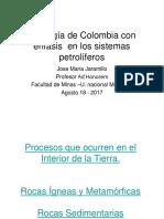 Geologia de Colombia . Sistemas Petroliferos- 2017 Jose Maria Jaramillo