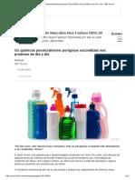 Os Químicos Potencialmente Perigosos Escondidos Nos Produtos Do Dia a Dia - BBC Brasil