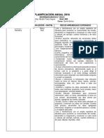 Planificacion Anual y Plan Lector 2ºciclo