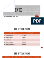 verb tenses - saturday edition