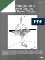71 La Influencia de La Euskal Dantza en El Ballet Clasico