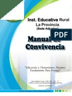 Manual de Convivencia I.E.R LA PROVINCIA
