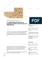 11 Benefits & Uses of Isabgol (Psyllium Husk) & Its Side Effects