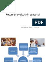 Resumen Evaluación Sensorial