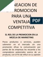 Planeacion de La Promocion Para Una Ventaja Competitiva