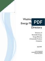 Washington State Energy Marketplace Directory