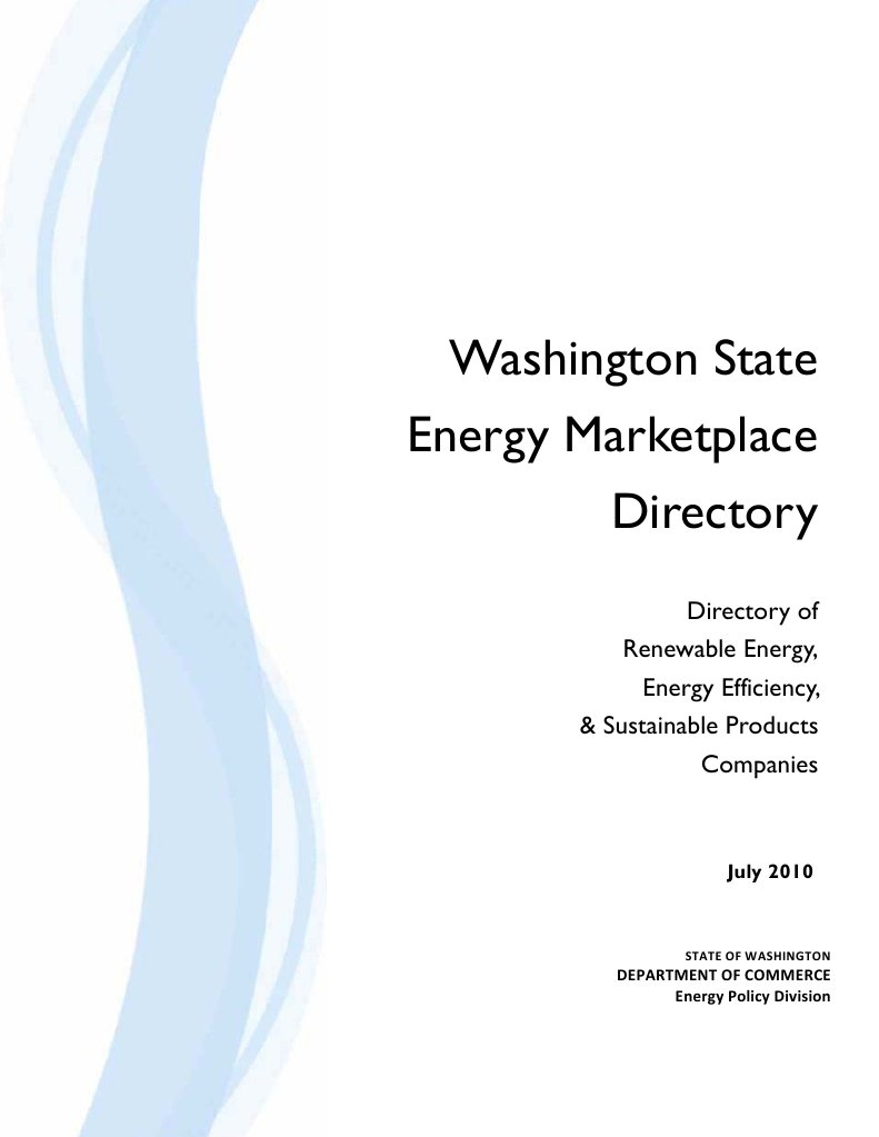Washington State Energy Marketplace Directory Green Building Cascadia Hydrogen Practical Guide To Free Devices Leadership In And Environmental Design