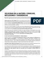 VELOCIDAD EN LA BATERÍA_ CONSEJOS, REFLEXIONES Y SUGERENCIAS _ Jose Rosendo