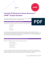 Aphr Exam Sample Questions