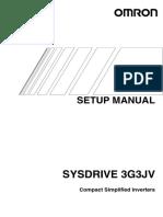 I546-E1-01 3G3JV Setup Manual