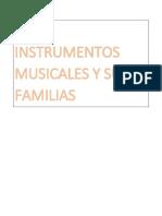 Los Instrumentos Musicales y Sus Familias