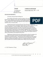 Perry James Richard Certificate of Divestiture