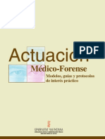 actuación médico-forense modelos, guías y protocolos de interés práctico