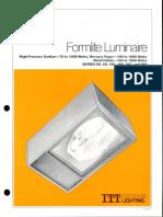 ITT American Electric Formlite Luminaire Series 68-69-168-169-268-269 Spec Sheet 4-79