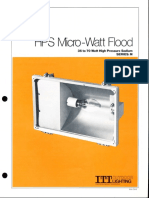 ITT American Electric HPS Micro-Watt Flood Series M Spec Sheet 1-82