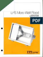 ITT American Electric LPS Micro-Watt Flood Series M18 & M18C Spec Sheet 11-80