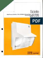 ITT American Electric Sidelite Series 181 & 182 Spec Sheet 8-80