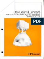 ITT American Electric Bay Beam Luminaire Series 56-57-156-157 Spec Sheet 2-79