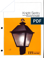 ITT American Electric Knight Sentry Post Top Spec Sheet 11-79