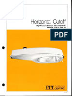 ITT American Electric Horizontal Cutoff Luminaire Series 13-14-25-26 Spec Sheet 2-81